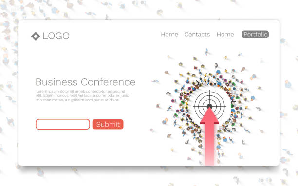 Business Conference, Landing page concept. Business Conference, Landing page concept. Vector illustration determination stock illustrations