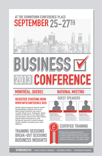 Business Conference Poster Design Template Stock Illustration - Download Image Now