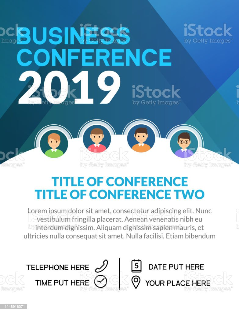 Business Conference Simple Template Invitation Geometric