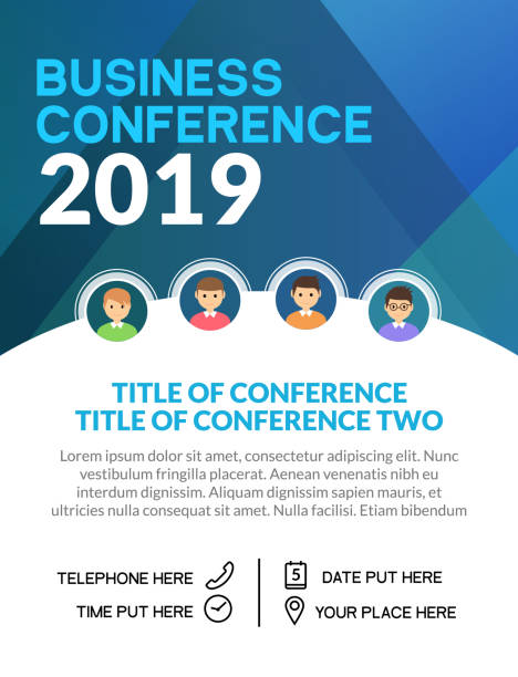 Business conference simple template invitation. Geometric magazine conference or poster business meeting design banner Business conference simple template invitation. Geometric magazine conference or poster business meeting design banner. debate stock illustrations
