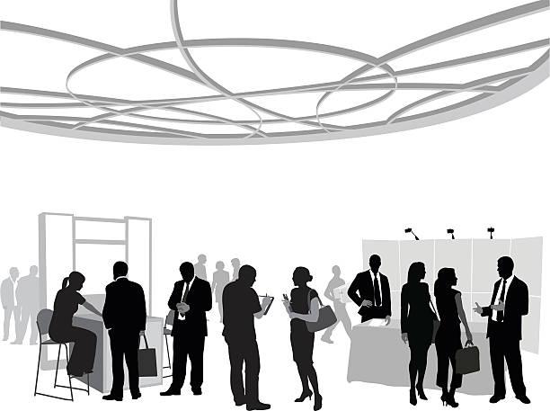 Business Conference Team vector art illustration