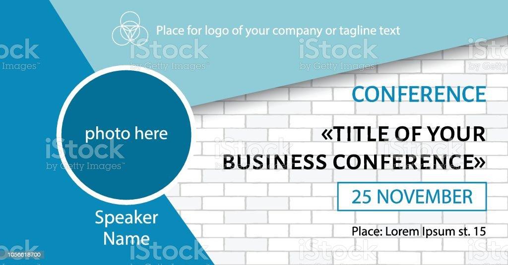 Business Conference Template Facebook Event Link Banner Design Stock