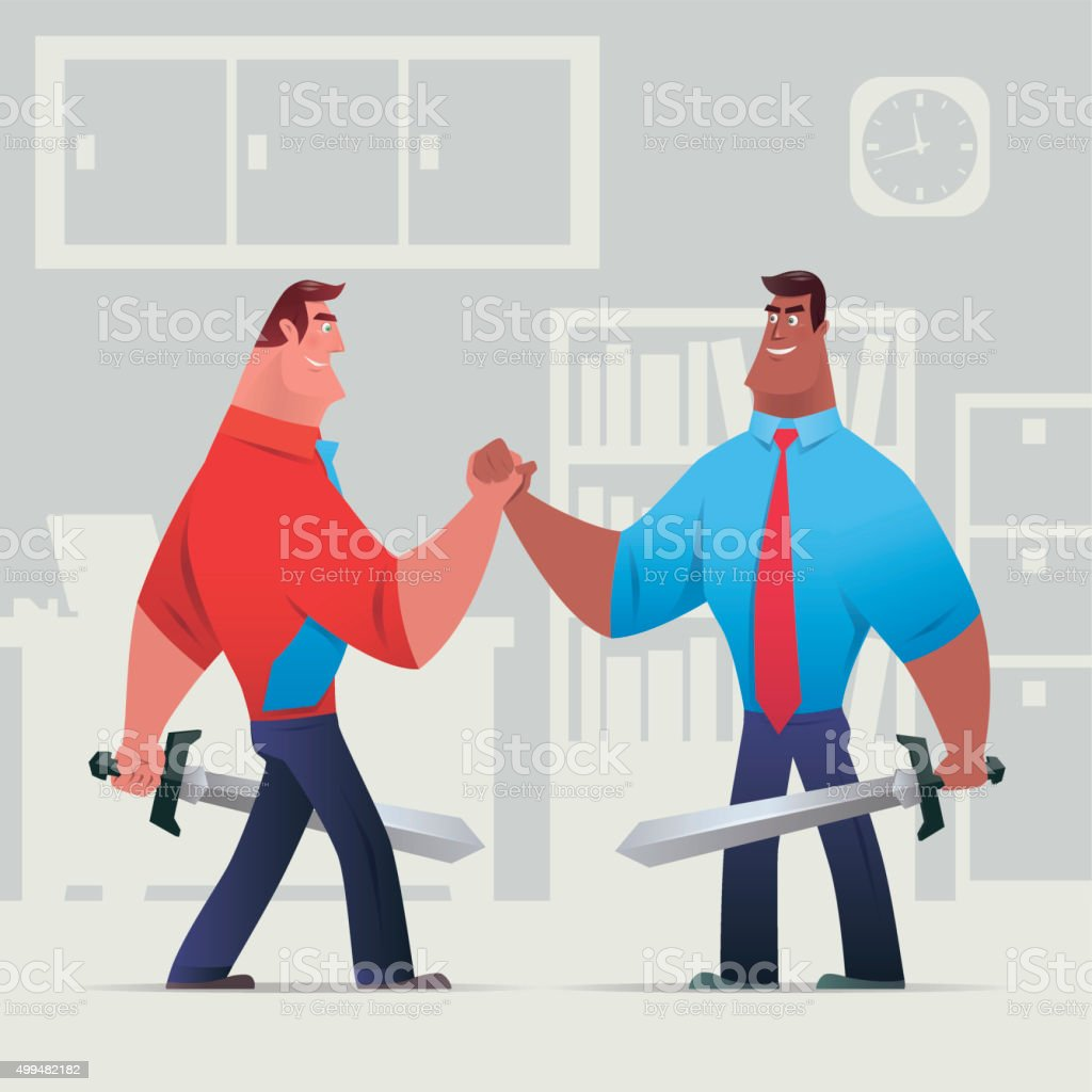 business conflict vector art illustration