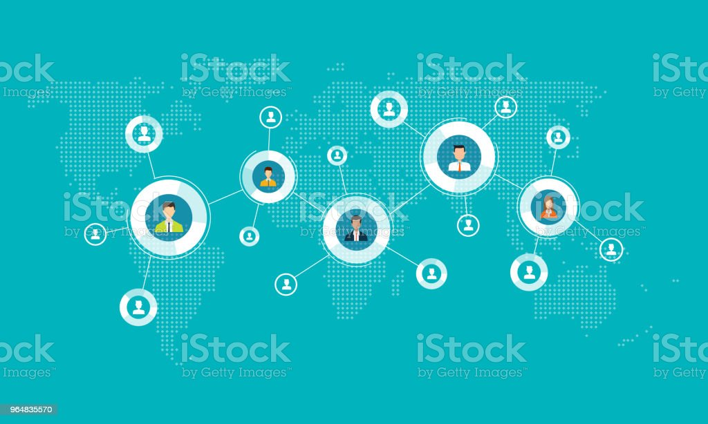 business connection on social network online concept . and people business communication concept royalty-free business connection on social network online concept and people business communication concept stock vector art & more images of abstract