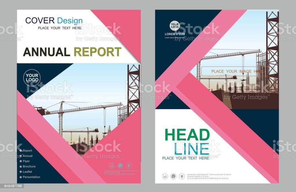 Entreprise Construction Annuel Rapport Brochure Flyer Design
