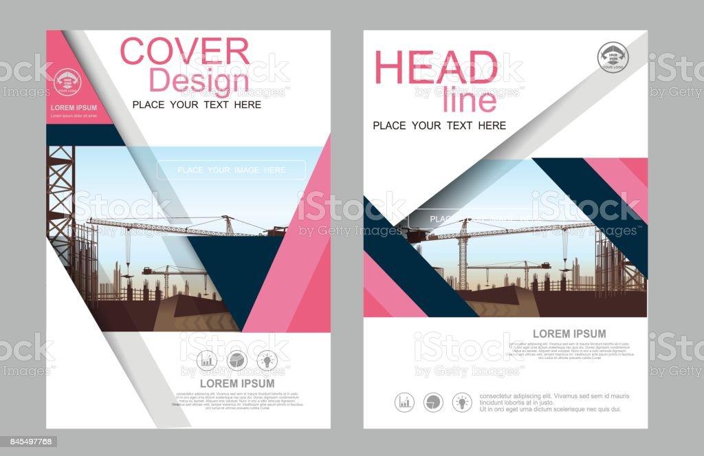 business construction annual report brochure flyer design template