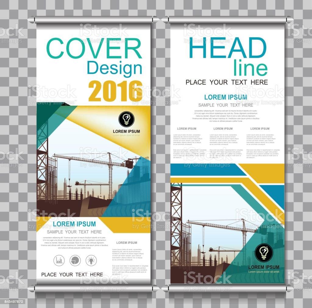 Ilustración de Negocio Construcción Anual Informe Folleto Flyer ...