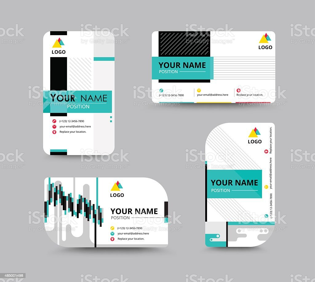 Business Contact Card Template Design Flyer Template Vector Il Stock - Contact card template