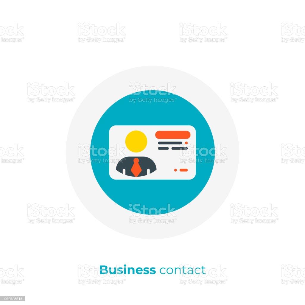 Contact Professionnel Plat Icone De Lart Vecteur Numerique Carte