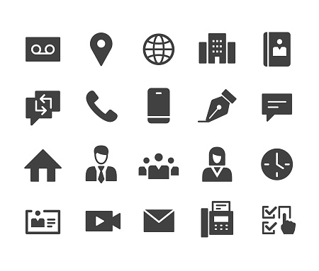 Business Contact Icons - Classic Series