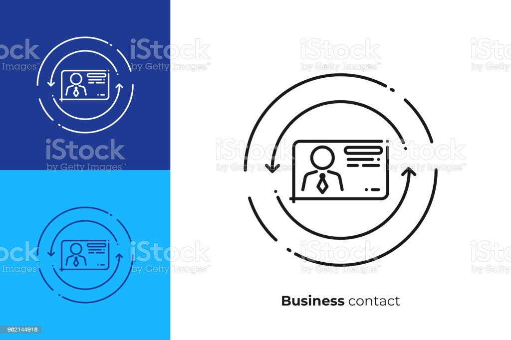 Business contact line art icon digital business card vector art business contact line art icon digital business card vector art outline online profile illustration colourmoves