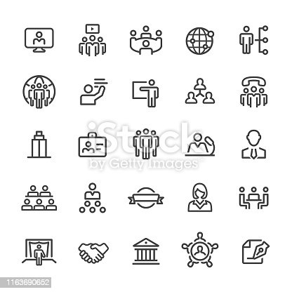 istock Business Convention Icons - Smart Line Series 1163690652