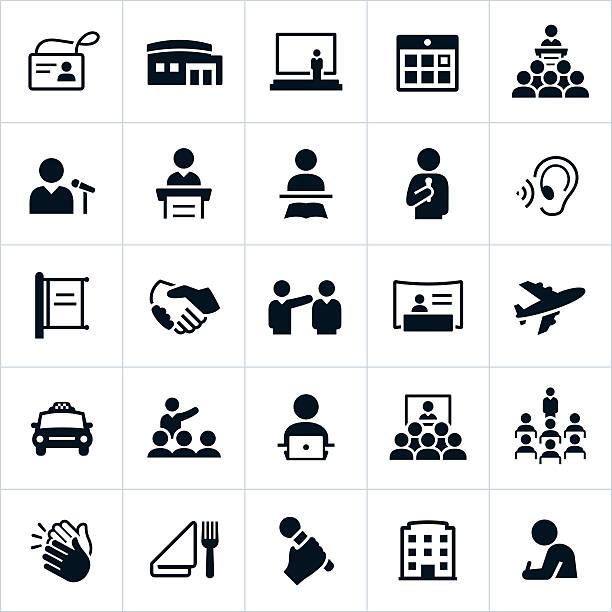ビジネスコンベンションのアイコン - トレーニングのカレンダー点のイラスト素材/クリップアート素材/マンガ素材/アイコン素材