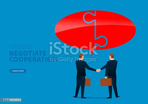 istock Business conversation and cooperation 1171655653