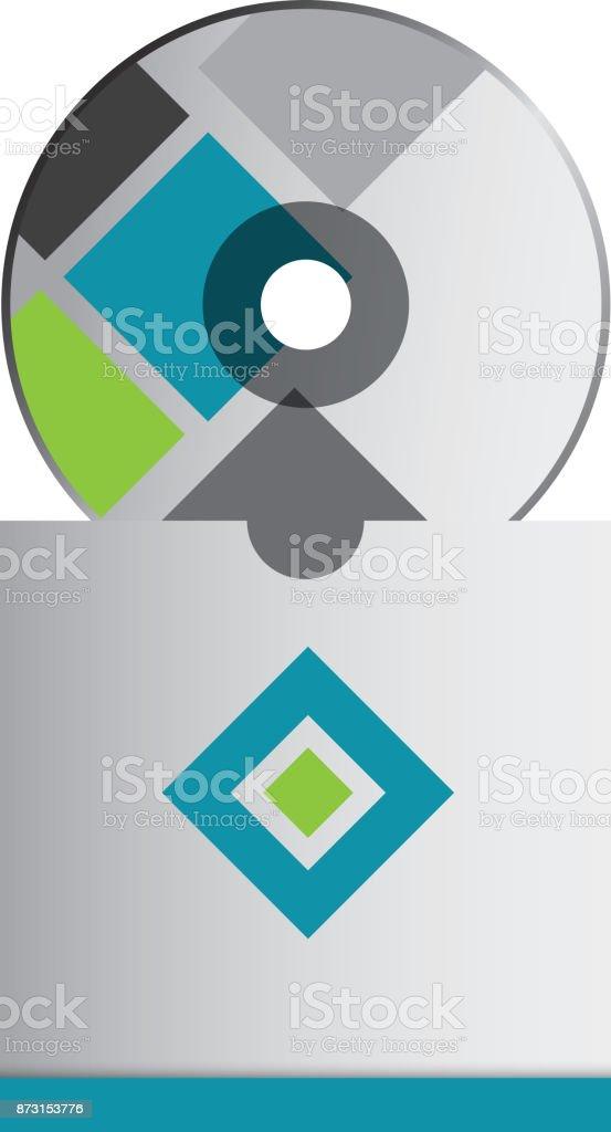 Ilustración de Cd Corporativo Empresas Con Plantilla De Emblema De ...