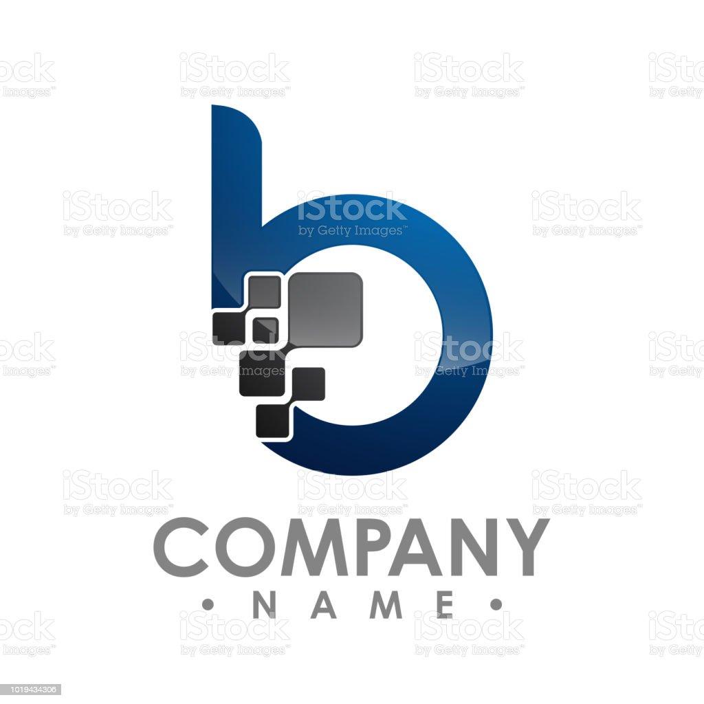 Entreprise Entreprise Lettre B Logo Design Vecteur Modèle De Lettre ...