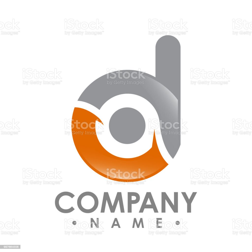 Corporate Business Letter D Logo Design Vektor Bunte