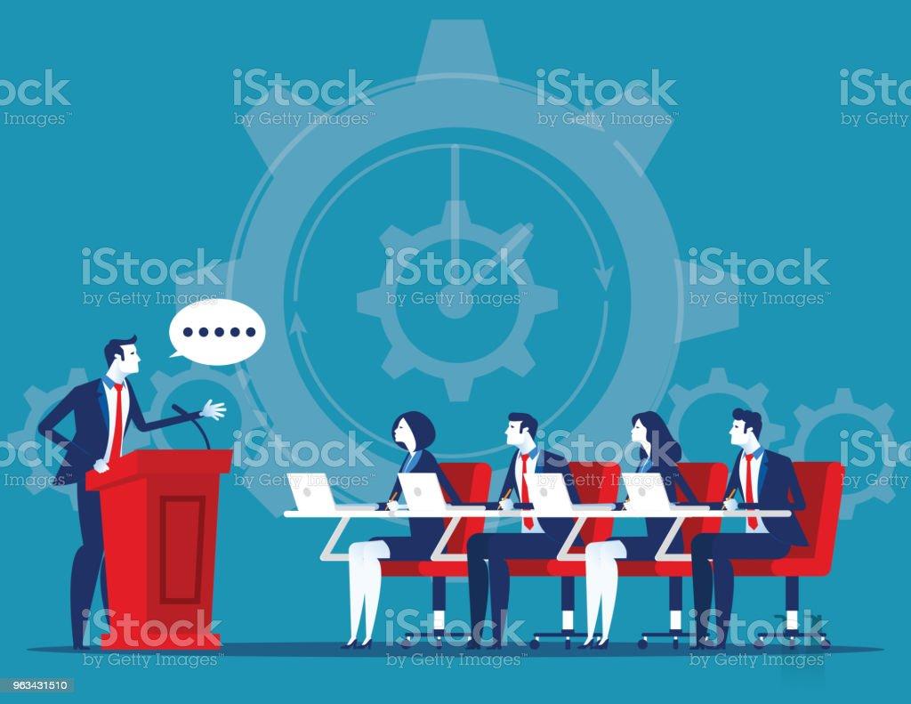Business corporate meeting. Concept business vector illustration. Flat cartoon character style design. - Grafika wektorowa royalty-free (Abstrakcja)