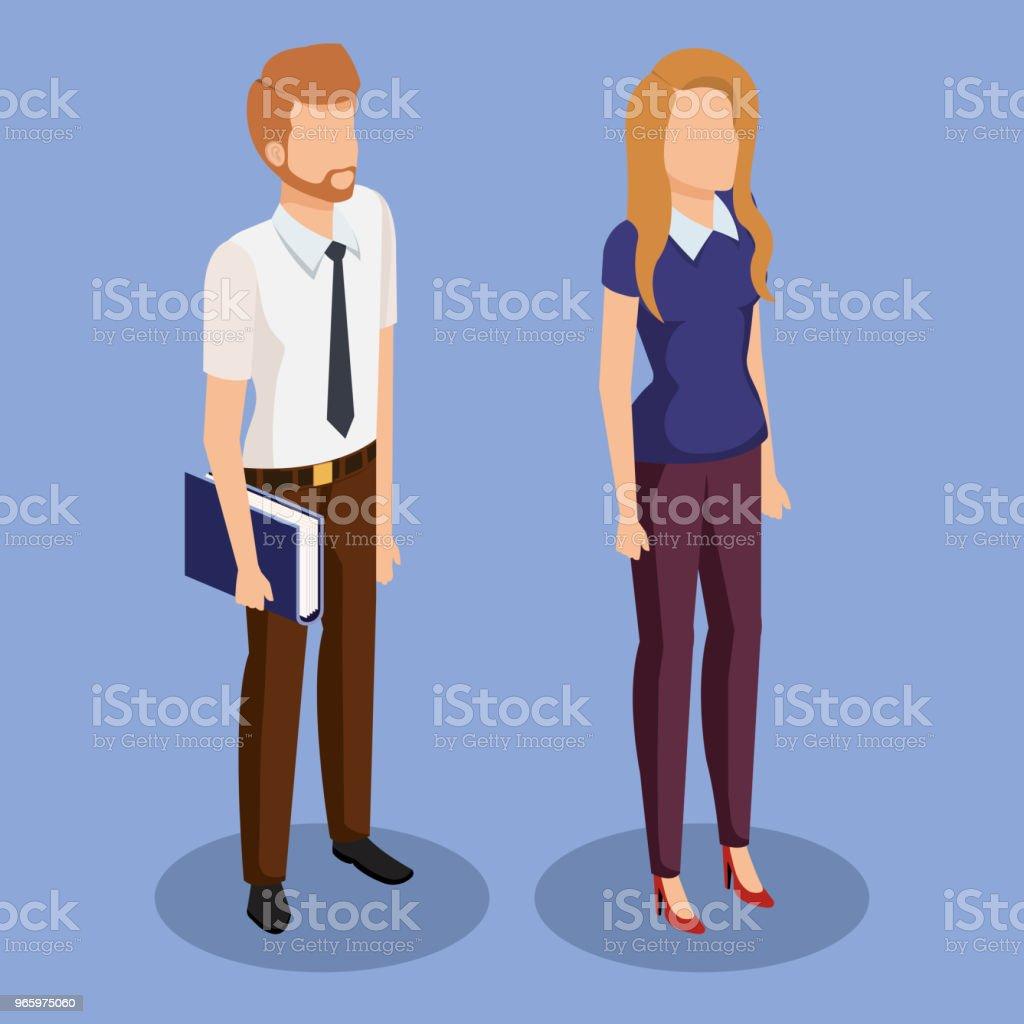 zakelijke paar isometrische avatars - Royalty-free Avatar vectorkunst