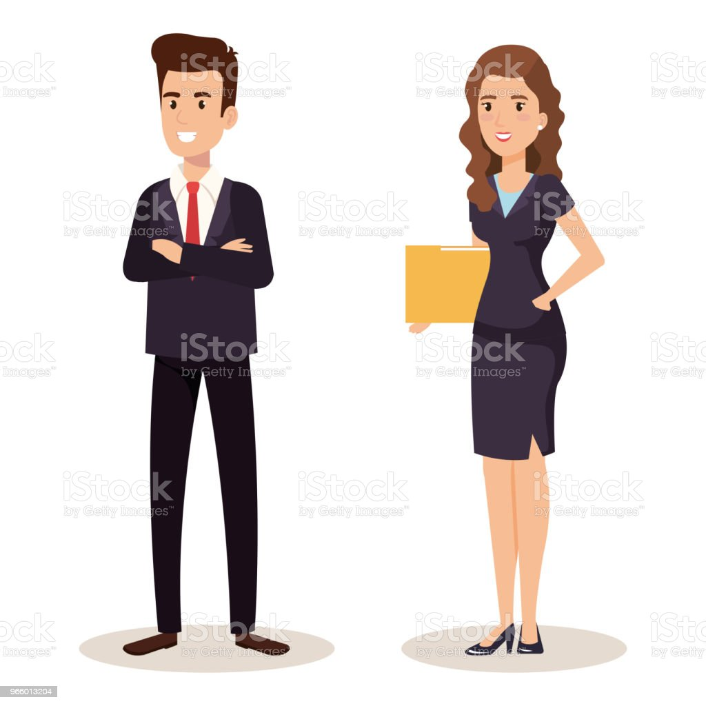 business couple isometric avatars - Royalty-free Avatar stock vector