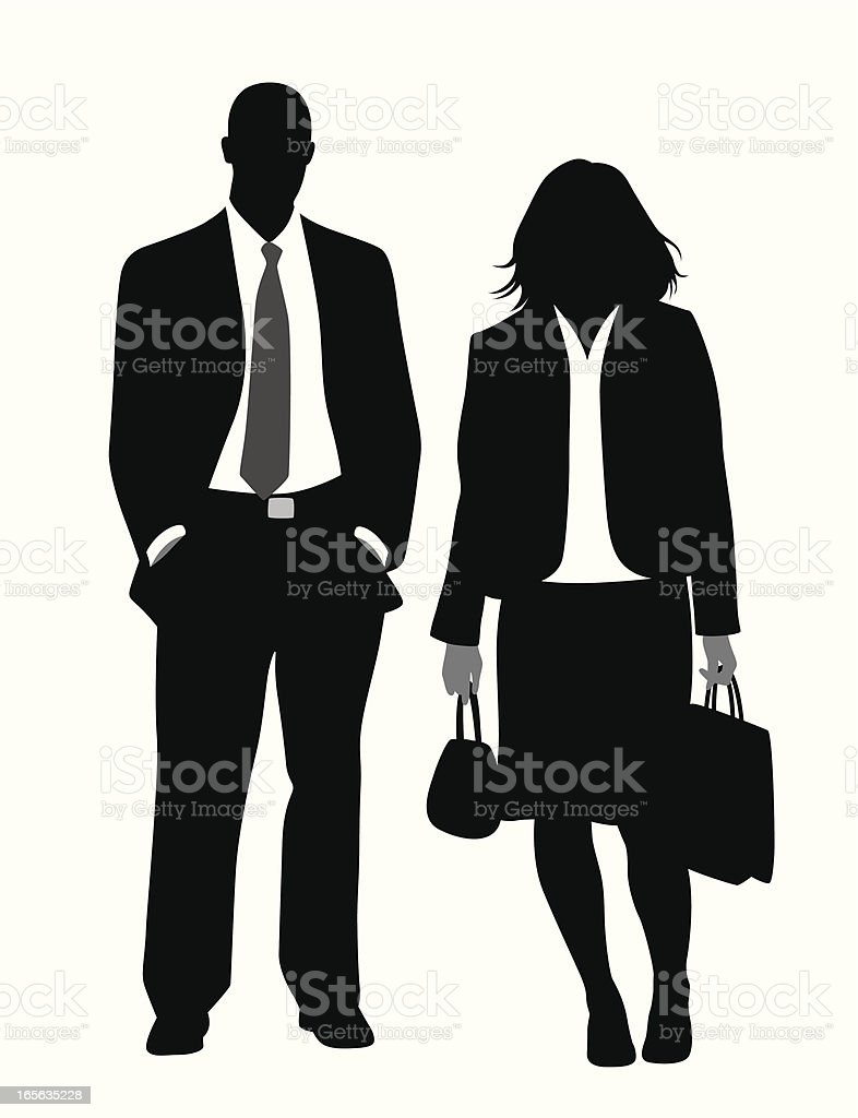 Business Couple Vector Silhouette royalty-free stock vector art