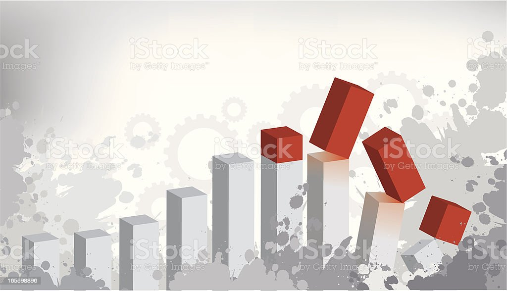 Business Crisis royalty-free business crisis stock vector art & more images of bar graph