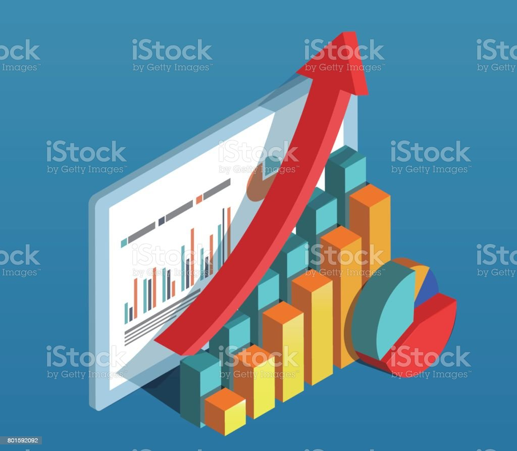 Business data diagram vector art illustration