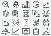 Business Data Line Icons