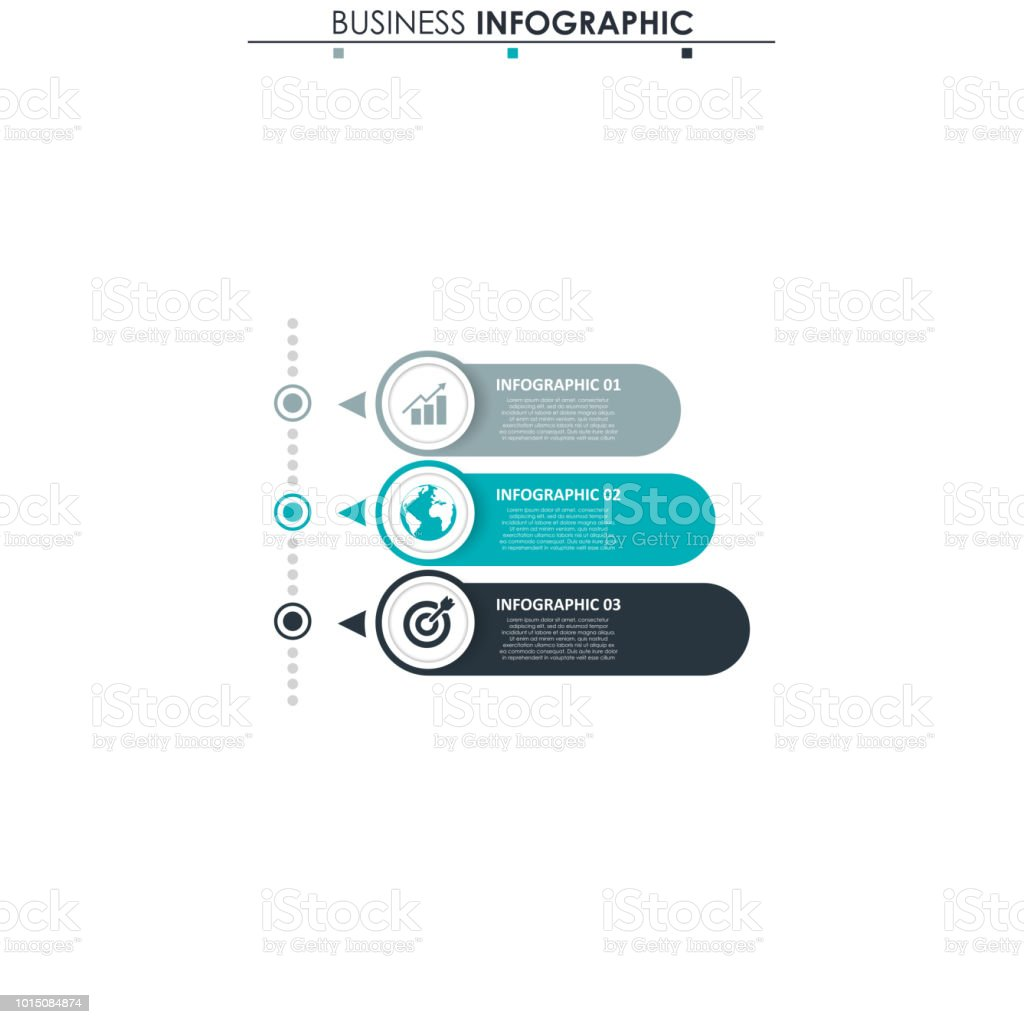 Business Data Process Chart Abstract Elements Of Graph Diagram With Flow R 3 Steps