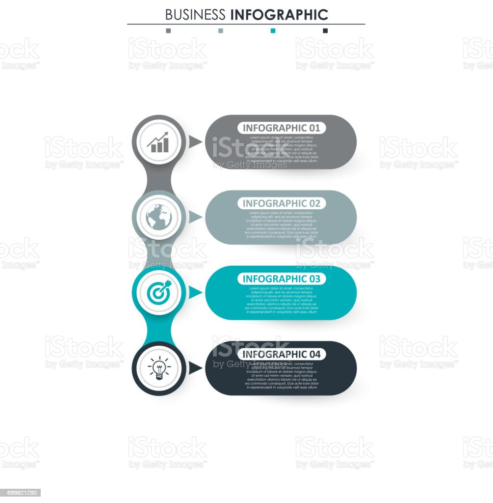 Business data process chart abstract elements of graph diagram with process chart abstract elements of graph diagram with 4 steps ccuart Gallery