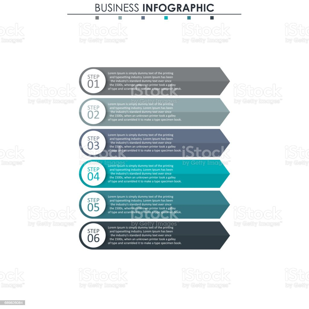 Business Data Process Chart Abstract Elements Of Graph Diagram With ...