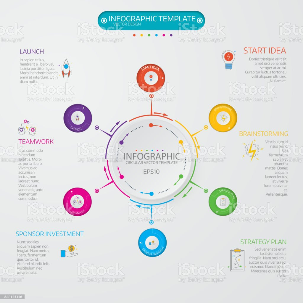 Business Data Visualization Process Chart Abstract Elements Of Stock