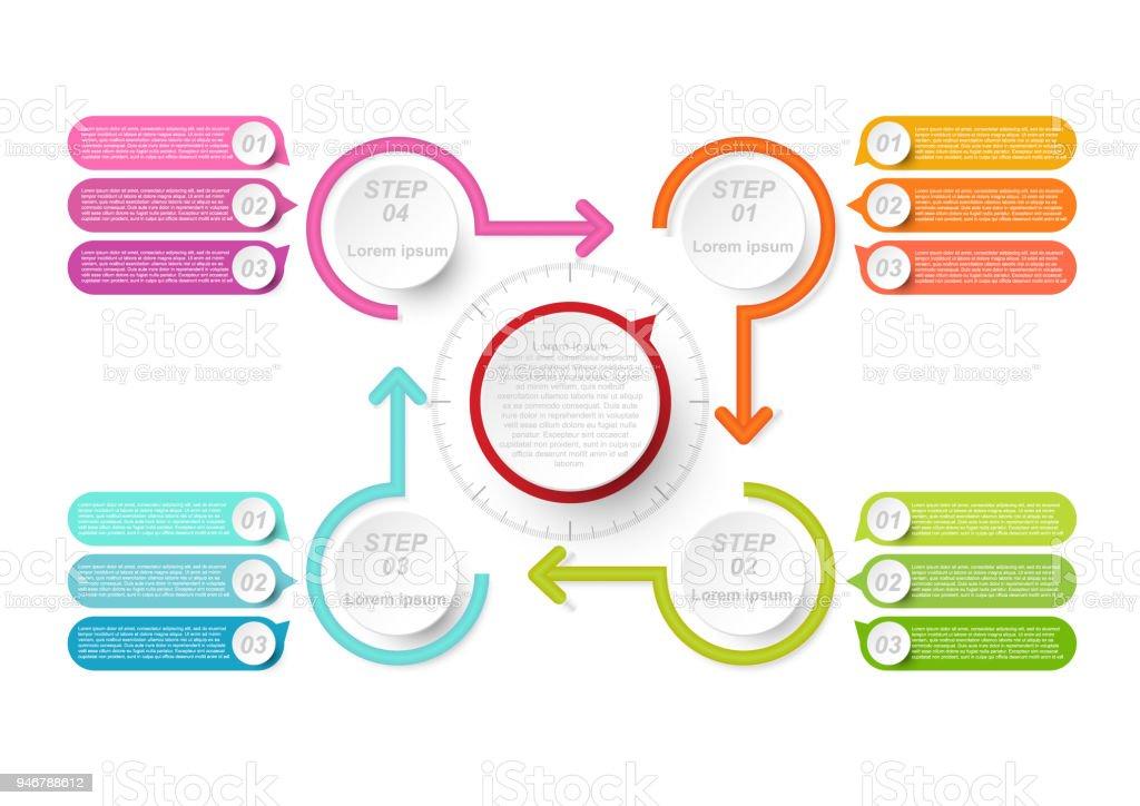 Businessdatenvisualisierung Ablaufdiagramm Und Abstrakte Elemente ...