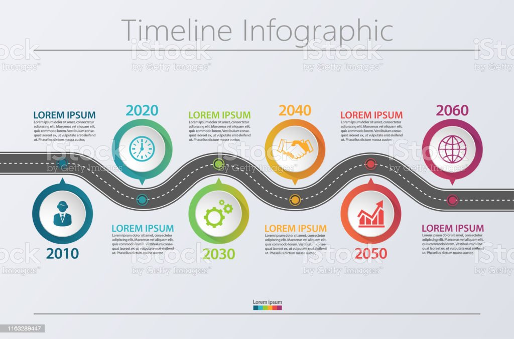 Business data visualization. timeline infographic icons designed for abstract background template - Royalty-free Abstrato arte vetorial