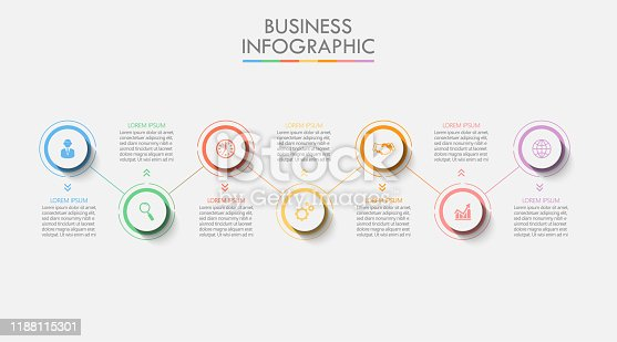 istock Business data visualization. timeline infographic icons designed for abstract background template 1188115301