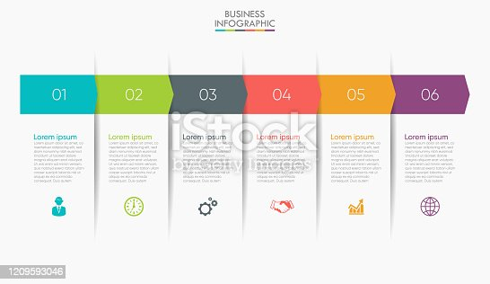 istock Business data visualization. timeline infographic icons designed for abstract background template 1209593046