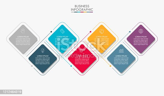 istock Business data visualization. timeline infographic icons designed for abstract background template 1212464319