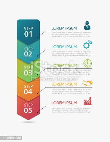 istock Business data visualization. timeline infographic icons designed for abstract background template 1216894988