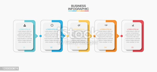 istock Business data visualization. timeline infographic icons designed for abstract background template 1253000674