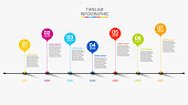 istock Business data visualization. timeline infographic icons designed for abstract background template 1256962186