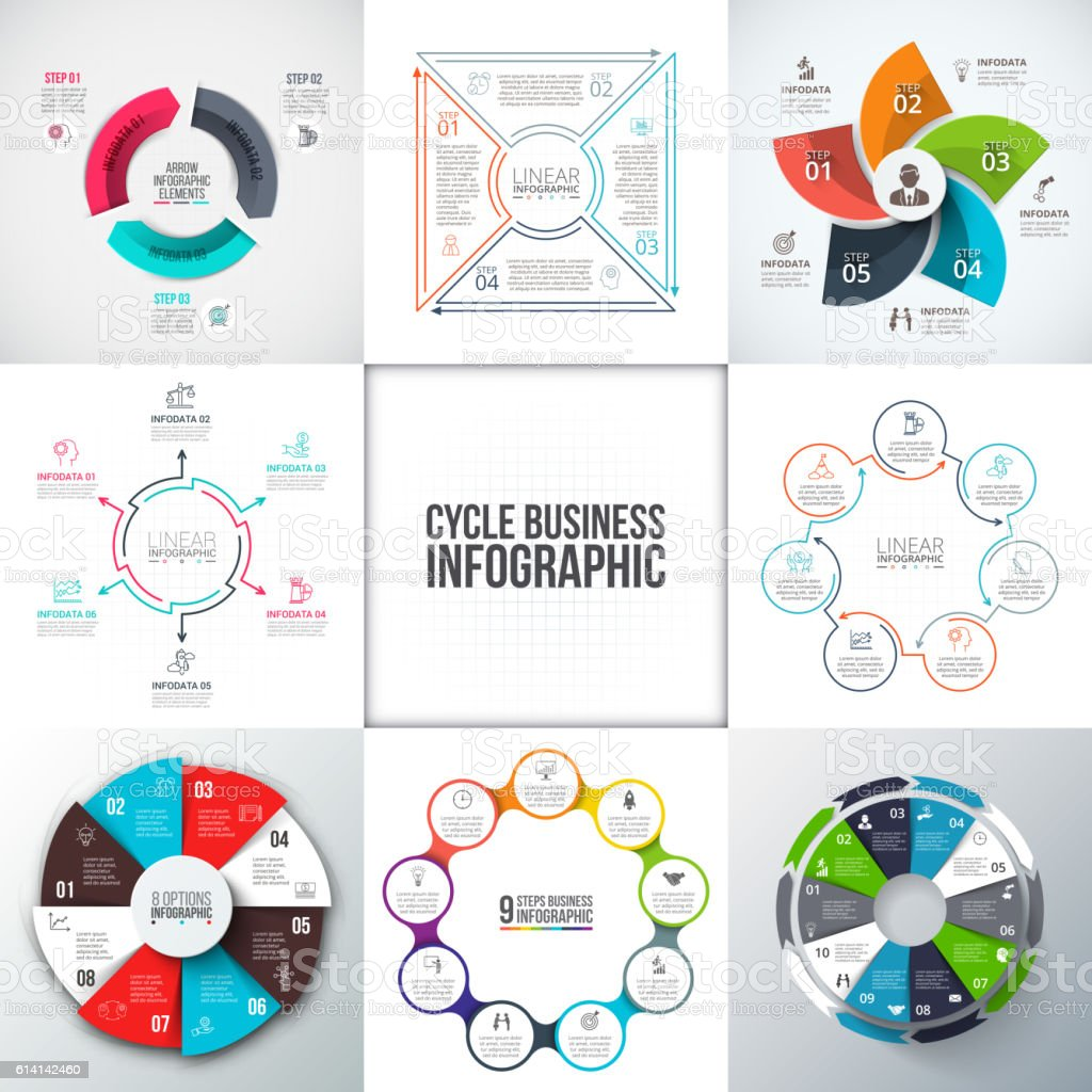 Business data visualization. vector art illustration