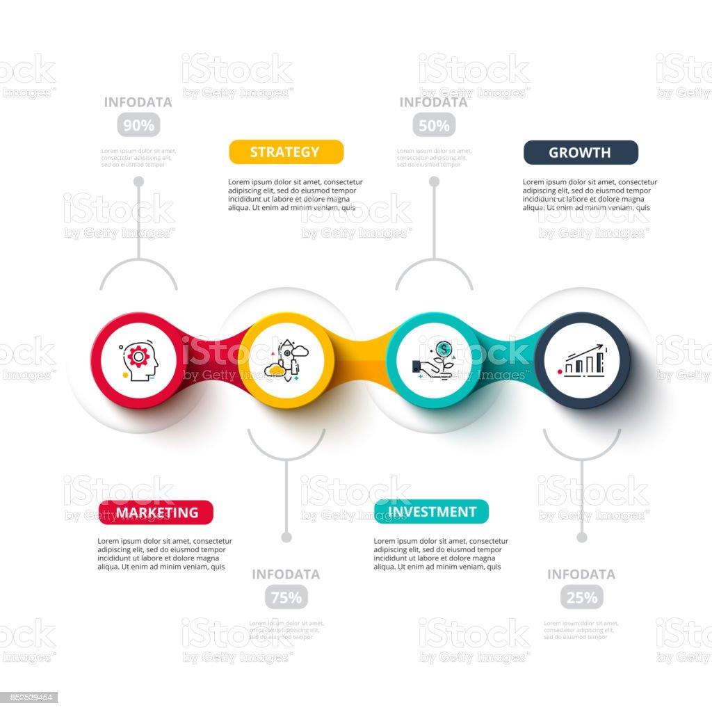 Business data visualization. vector art illustration