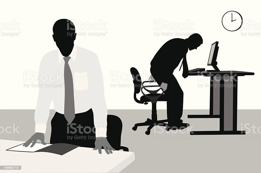 Business Day Vector Silhouette royalty-free stock vector art