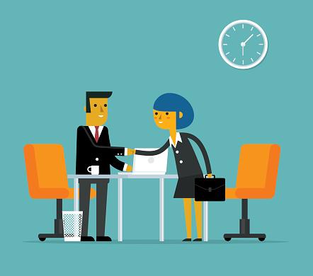 Business deal - Businessman and businesswoman