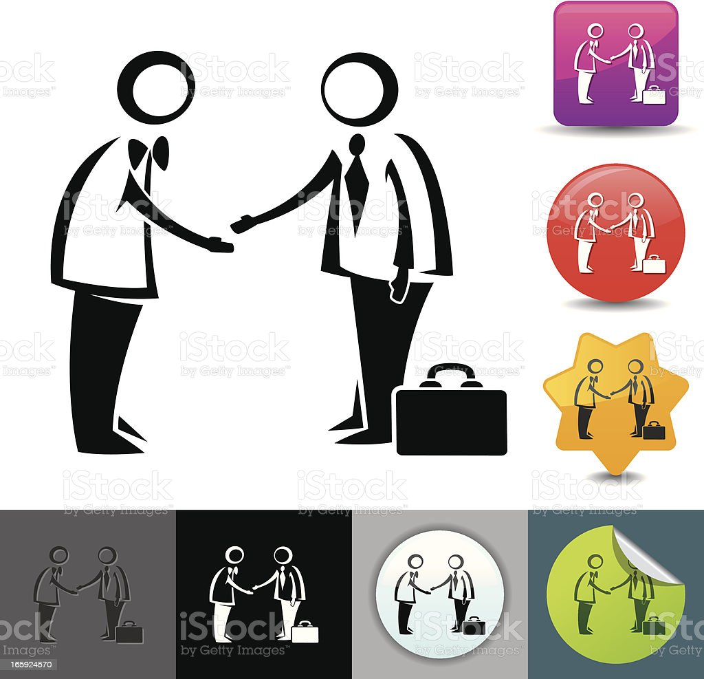 Business deal icon   solicosi series royalty-free stock vector art
