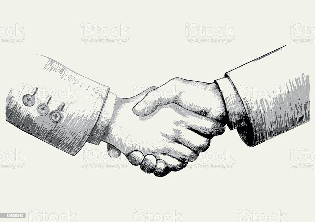 Business Deals vector art illustration