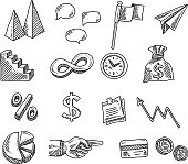 istock Business Design Elements Drawing 1254070996
