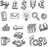 istock Business Design Elements Drawing 1254071001