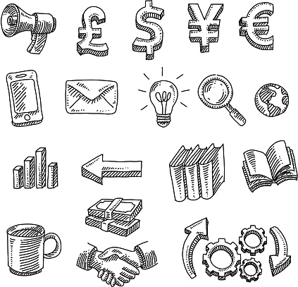 Business Design Elements Drawing