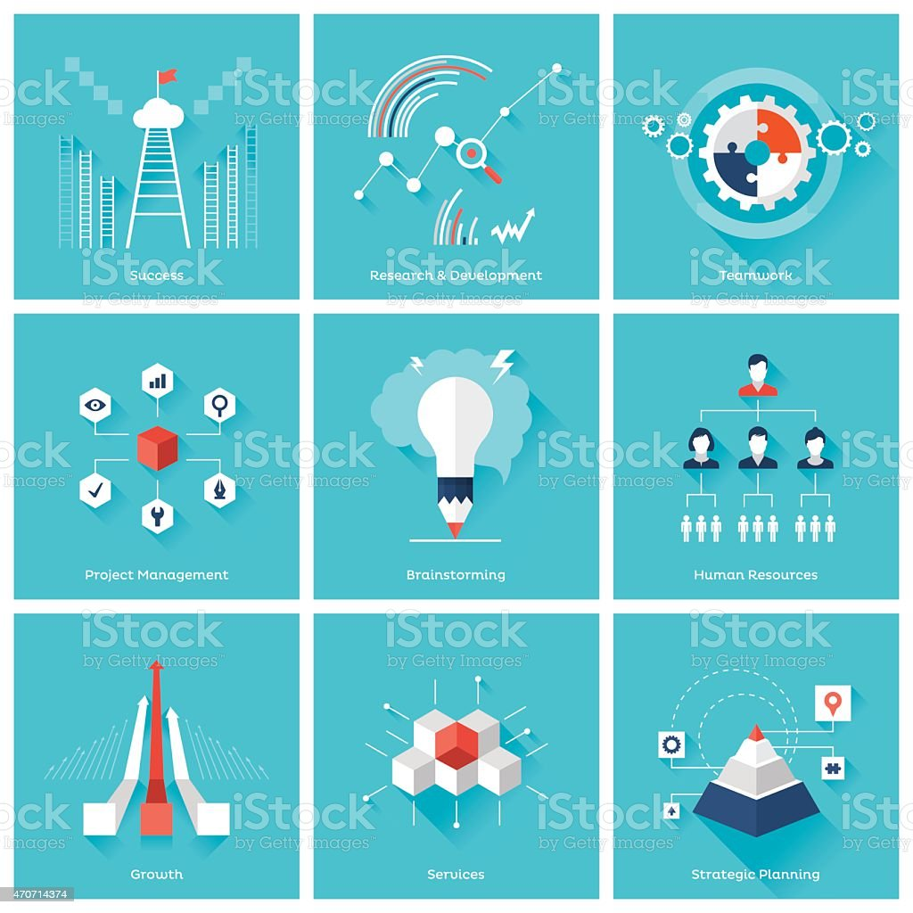 Business design elements vector art illustration